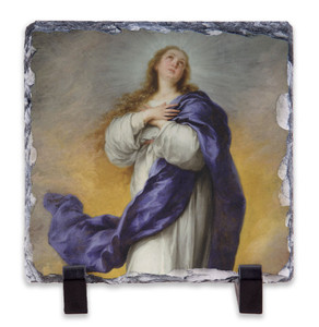 Immaculate Conception Square Slate Tile