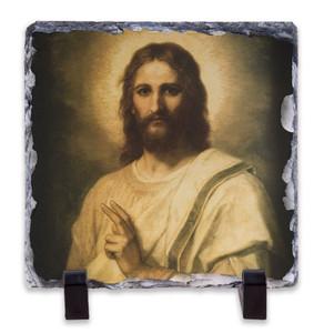 Figure of Christ Square Slate Tile