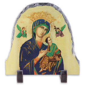 Our Lady of Perpetual Help Arched Slate Tile