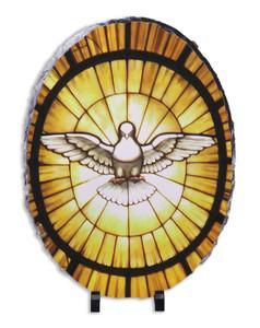 Holy Spirit Oval Slate Tile