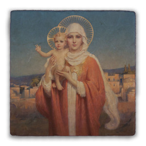 Our Lady of Palestine by Chambers Square Tumbled Stone Tile