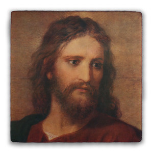 Christ at 33 Square Tumbled Stone Tile