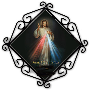 Divine Mercy Votive Candle Holder