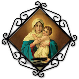 Schoenstatt Madonna Votive Candle Holder