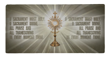 Monstrance Prayer Hi-Gloss Mini Tile