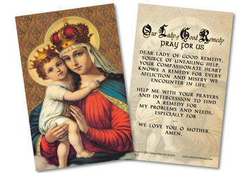 Our Lady of Good Remedy Holy Card