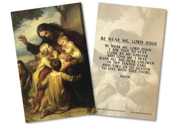 Jesus with the Children Holy Card