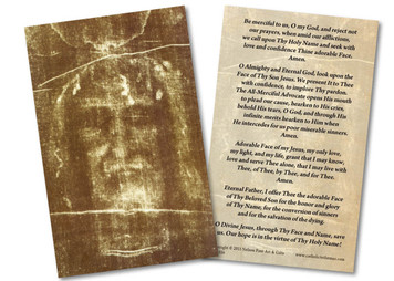 Shroud of Turin Holy Card