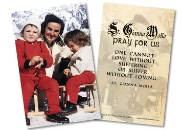 St. Gianna Molla Holy Card
