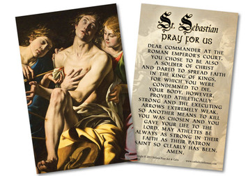 St. Sebastian Holy Card