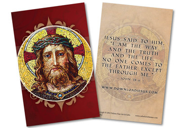 Download Jesus Portrait Holy Card