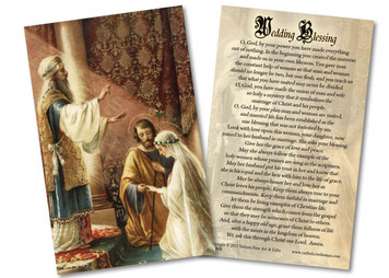 Wedding of Joseph and Mary Wedding Blessing Holy Card