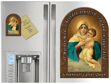 Schoenstatt Prayer Arched Magnet