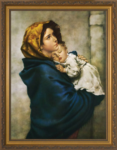 Madonna of the Streets Canvas - Gold Framed Art