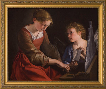 St. Cecilia Canvas - Standard Gold Framed Art