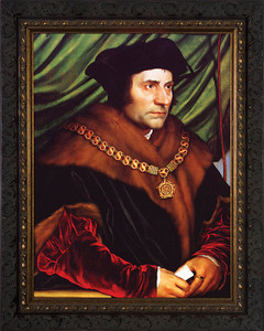 St. Thomas More Canvas - Ornate Dark Framed Art