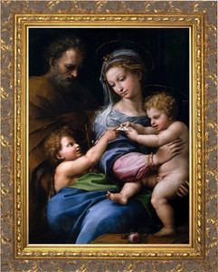Madonna della Rosa Canvas - Ornate Gold Framed Art