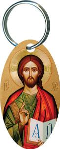 Christ the Teacher Oval Keychain