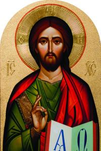 Byzantine Christ Arched Magnet