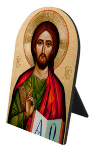 Byzantine Christ Arched Desk Plaque