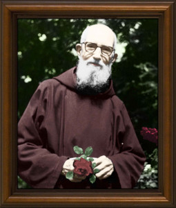 Blessed Solanus Casey, O.F.M. - Walnut Framed Art