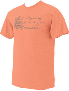 """I Will Spend"" St. Therese of Lisieux Heather Coral T-Shirt"