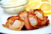 New England Scallops in Bacon - per 8 oz package