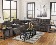 Acieona Slate 3 Pc. Reclining Sectional