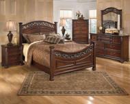 Leahlyn Warm Brown 6 Pc. Dresser, Mirror, Chest & California King Panel Bed