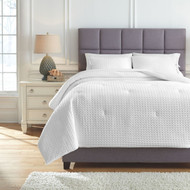 Maurilio White Queen Comforter Set