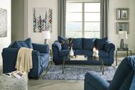 Darcy Blue Sofa, Loveseat & Rocker Recliner