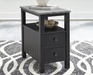 Ezmonei Black/Gray Chair Side End Table