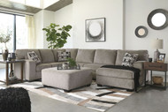 Ballinasloe Platinum LAF Sofa, Armless Loveseat & RAF Corner Chaise Sectional