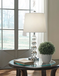 Joaquin Clear/Silver Finish Crystal Table Lamp