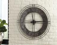 Ana Sofia Antique Gray Wall Clock
