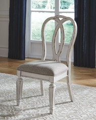 Realyn Chipped White Dining UPH Side Chair