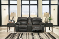 Dunwell Steel Power Reclining Loveseat with Console and Adjustable Headrest
