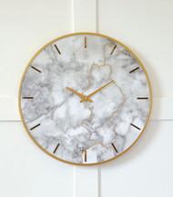 Jazmin Gray/Gold Finish Wall Clock