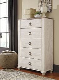 Willowton Whitewash Five Drawer Chest