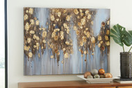 Donier Blue/Gold Finish Wall Art