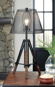 Leolyn Black/Brown Metal Table Lamp (1/CN)
