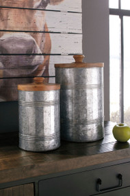 Divakar Antique Gray Jar Set (2/CN)