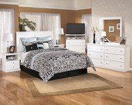Bostwick Shoals White 6 Pc.Queen Panel Bedroom Collection