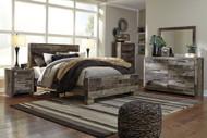 Derekson Multi Gray 5 Pc. Queen Panel Bed Collection