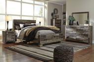 Derekson Multi Gray 5 Pc. King Panel Bed Collection