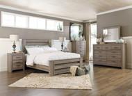 Zelen Warm Gray 7 Pc. Queen Panel Bedroom Collection