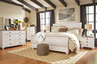 Willowton Whitewash 8 Pc. King Bedroom Collection