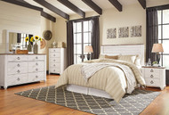 Willowton Whitewash 5 Pc. Queen Sleigh Bedroom Collection