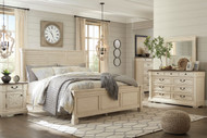 Bolanburg Two-tone 6 Pc. King Louvered Bedroom Collection
