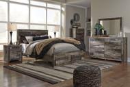 Derekson Multi Gray 7 Pc. Dresser, Mirror, Chest & Queen Storage Footboard Bed